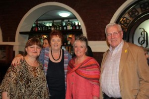 Madlen, Rosemary, Jan and Gethin at the reunion lunch.